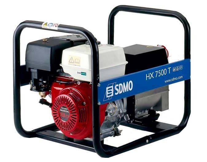 Генератор SDMO HX 7500 T-S в Ашае